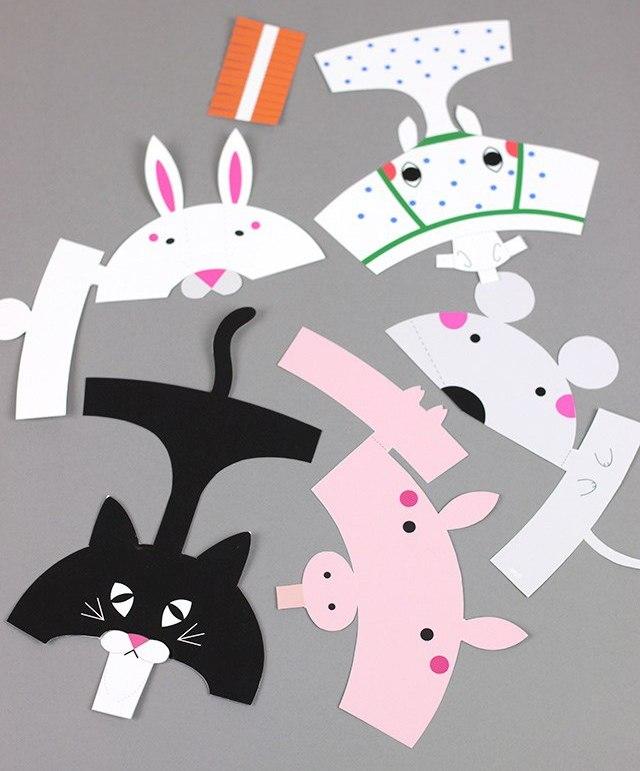Пальчиковые бумажные куклы (игрушки) своими руками (шаблоны)