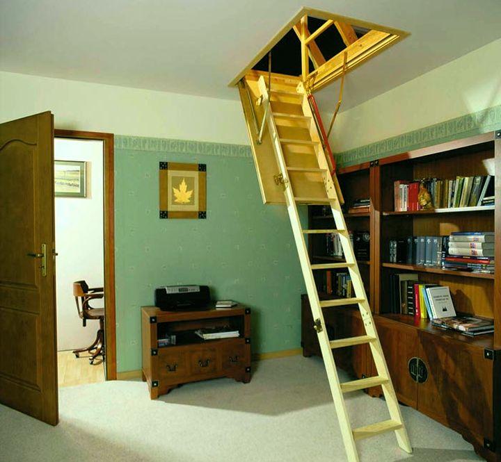 Чердачная лестница с люком