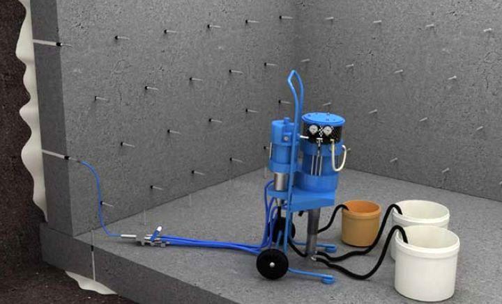 Устройство для инъекционной гидроизоляции