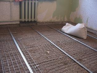 Стяжка из цемента (цементно-песочная) для пола