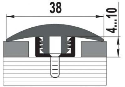 Как соединить пол с разным покрытием или порог между плиткой и линолеумом (ламинатом)