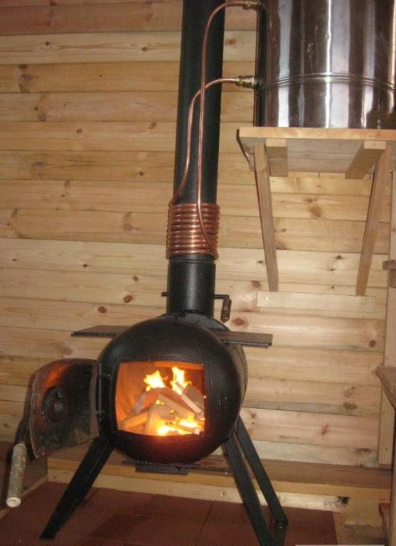 Печь для бани из газового баллона своими руками видео