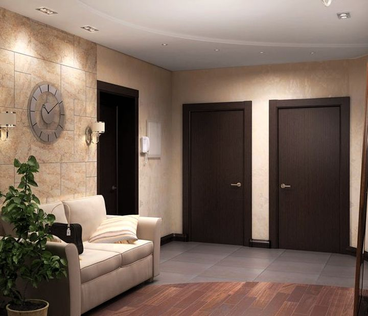 Дизайн цвет пола и дверей