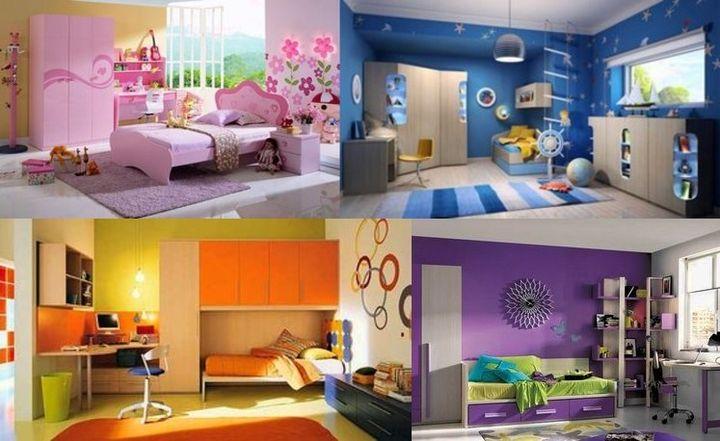 Яркие десткие комнаты