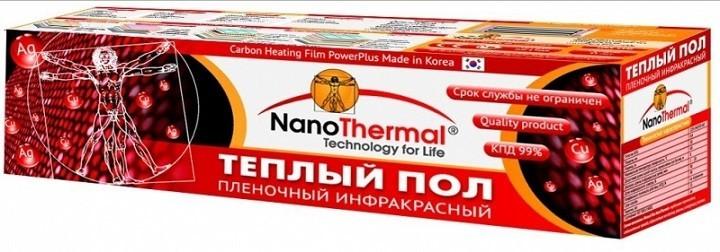 Упаковка пленочного теплого пола содержит все необходимое для подключения
