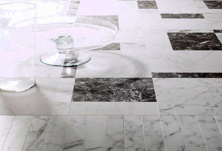 Оттенки серой надежной мраморной плитки