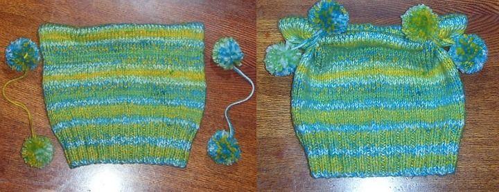 Простой способ вязания шапочки для ребенка спицами