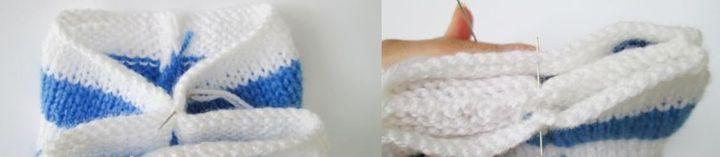 Способ оформления верхней части детской шапки