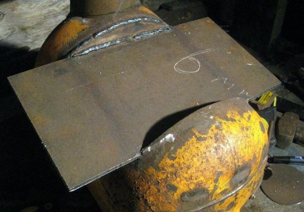 Печка – буржуйка из газового баллона. Печь в баню из металлического газового баллона с бойлером