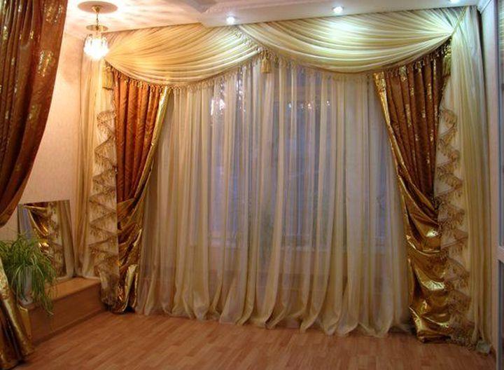Золотая отделка штор