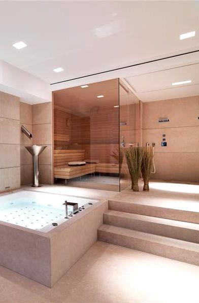 Дорогая отделка бани