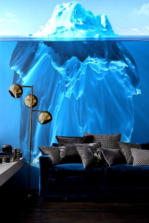 Фотообои айсберг в гостиной