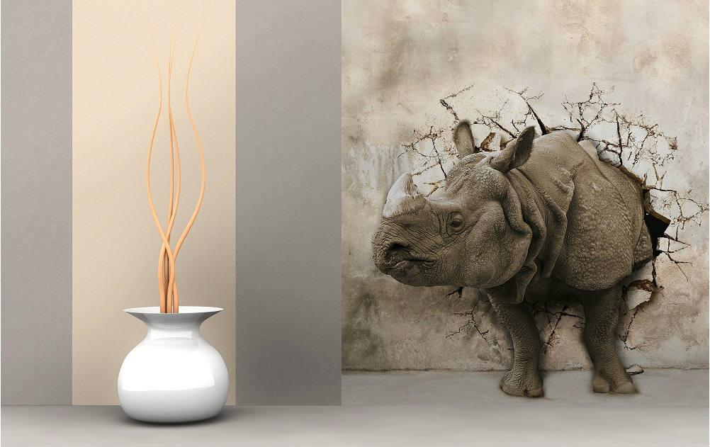 Фотообои с изображением носорога