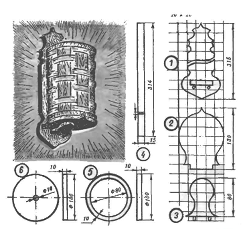 Схема светильника бра