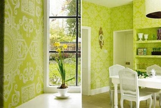 Сочетание зеленого цвета с другими цветами в интерьере