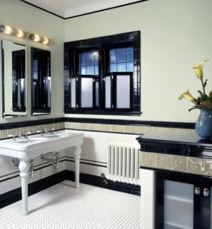 ар деко в ванной комнате 39