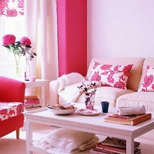 бело-розовый интерьер 16