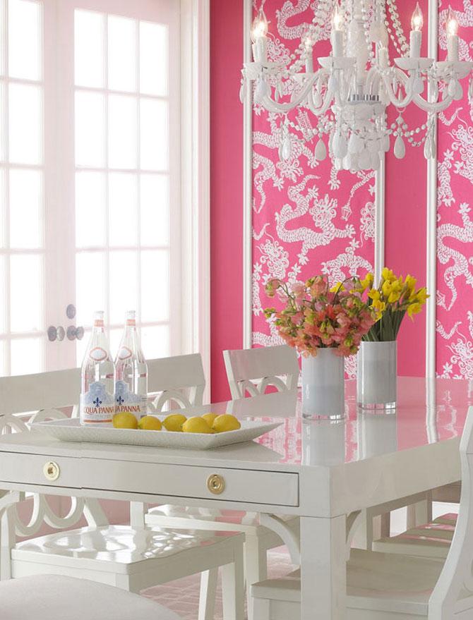 бело-розовый интерьер 34