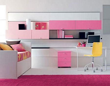бело-розовый интерьер 35