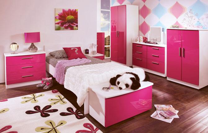бело-розовый интерьер 45
