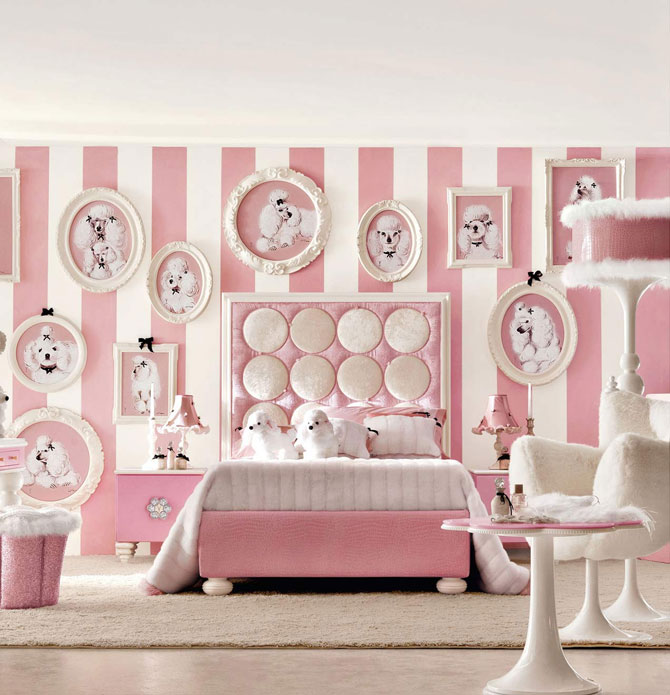 бело-розовый интерьер 55