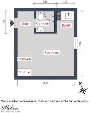 дизайн малогабаритных квартир фото 007