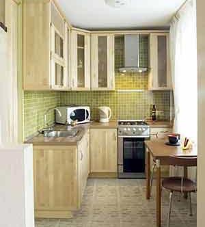 дизайн интерьер маленькой кухни 10