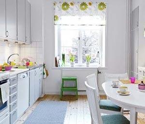 дизайн интерьер маленькой кухни 13