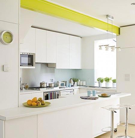 дизайн интерьер маленькой кухни 15