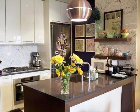 дизайн интерьер маленькой кухни 28