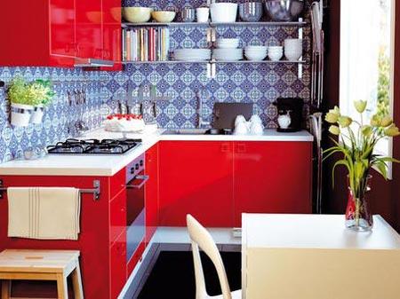 дизайн интерьер маленькой кухни 31