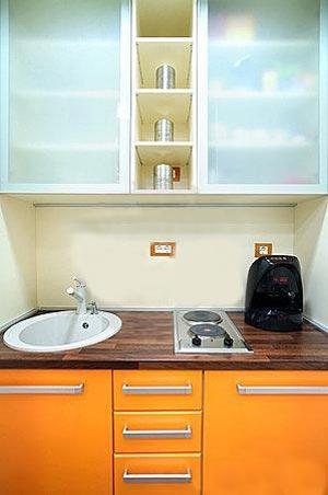 дизайн интерьер маленькой кухни 43