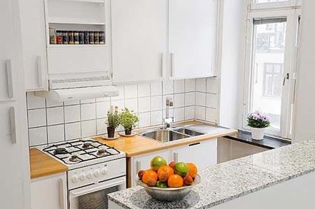 дизайн интерьер маленькой кухни 48