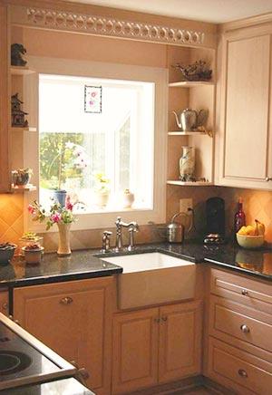 дизайн интерьер маленькой кухни 54
