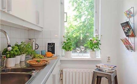 дизайн интерьер маленькой кухни 77