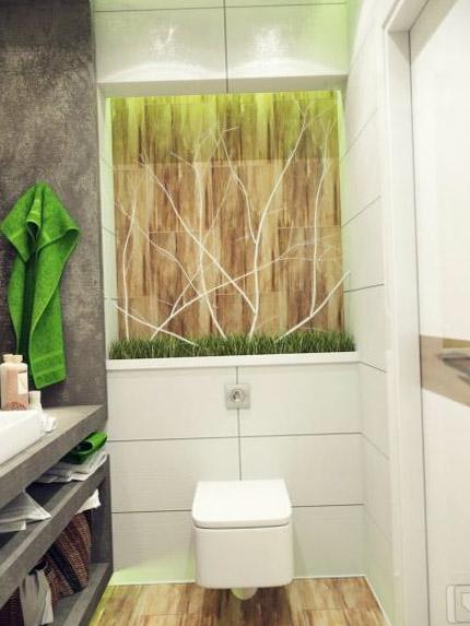 Цветовое решение для дизайна туалета 14