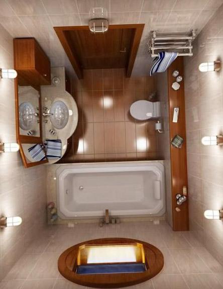 О дизайне совмещённого туалета 2