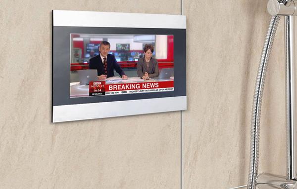 ТВ в душевой кабине