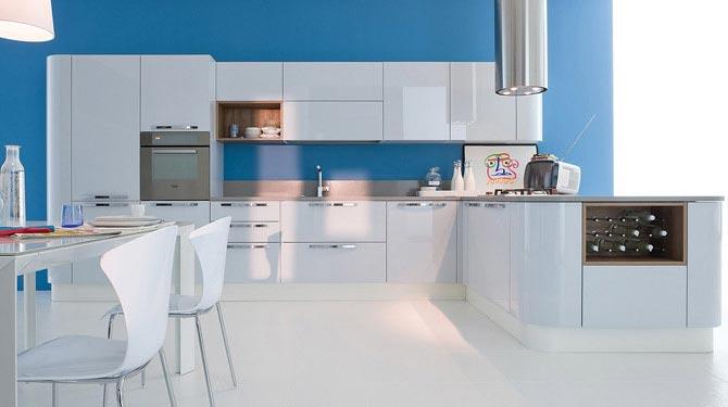 голубая кухня 25