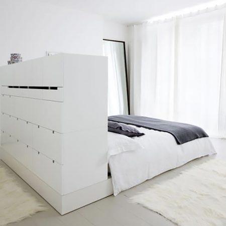 гостиная и спальня в одной комнате 06