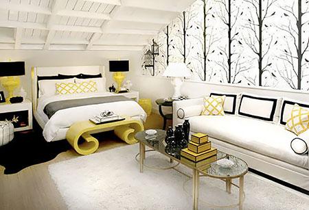гостиная и спальня в одной комнате 16