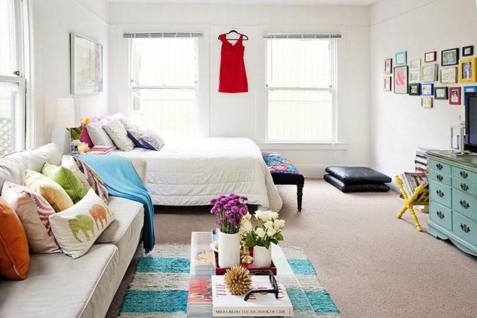 гостиная и спальня в одной комнате 18