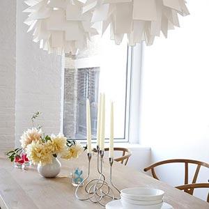 люстры и светильники в кухню-гостиную 13