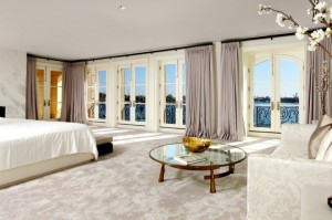 master-bedroom-cococozy-bed-carpet-lavender-light-purple-drapery-drapes-curtains-views-french-doors-e1428747835869
