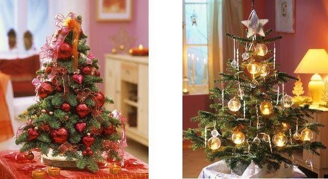 новогоднее украшение дома - маленькие елочки 002