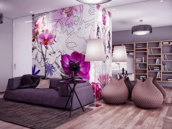 Фотообои в интерьере квартиры дизайна и способы комбинирования