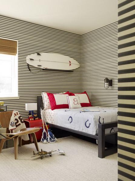 Фото обоев в спальне мальчика