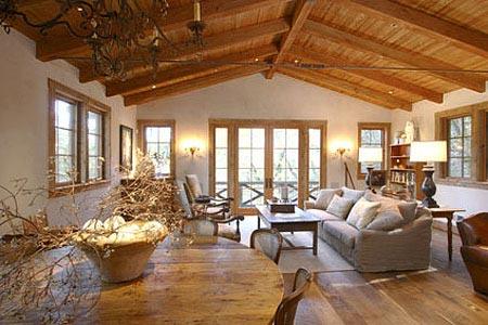 деревянный потолок 14