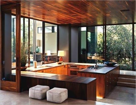 деревянный потолок 15