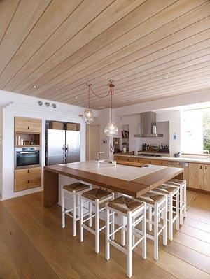 деревянный потолок 16